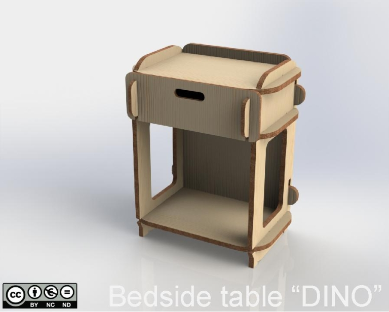 "Bedside Table ""DINO"""