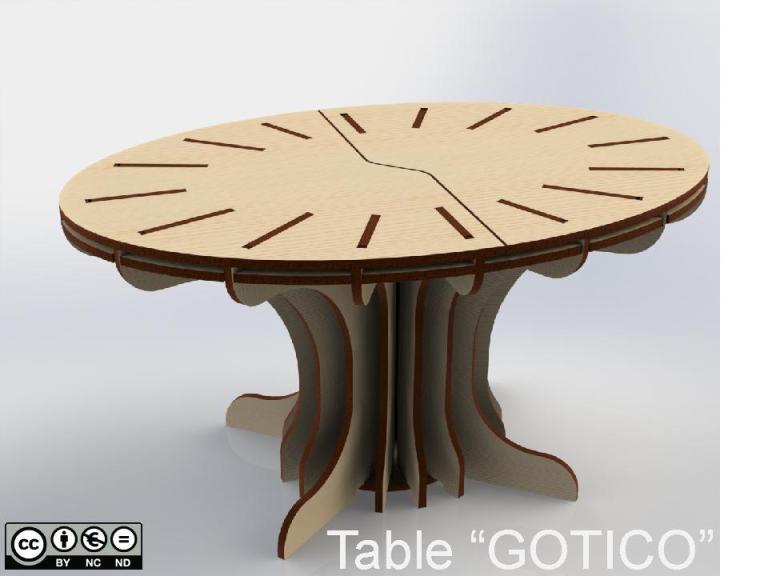"Table ""GOTICO"""